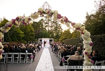 Chuppahs & Floral Arches by Bride & Blossom / The traditional Jewish wedding ceremony is not complete without a Chuppah. And beautiful floral arches can add romance to every wedding, and enhance wedding photos. Bride & Blossom makes sure when you step inside your Chuppah and honor your love that you are surrounded with your own design of decadent and delightful flowers. / by Bride & Blossom