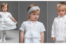 Christening linen outfit for kids / The adorable kid's christening outfit will make christening event more special and memorable. White linen christening dresses, shirts, vest, trousers, cloak and accessories for your little angels.