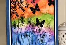 Cards: Alcohol-Color Burst-Distress Ink-