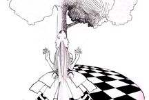 Alice in W:Ralph Steadman / Alice in wonderland (illustrator)