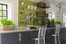 Garages and Workshops / Organize and deck out your garage or workshop- garage storage ideas, floor coverings, workbenches and more!
