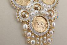 korálková výšivka - inšpirácie náhrdelníky