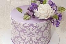 stencil/ lace cakes
