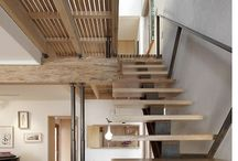 open timber staircase