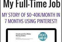 how made pinterest full time online money