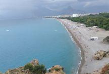 Рaйон Коньяалты в Анталии//  Konyaaltı in Antalya / Пляж,прогулочные парки//Beach,cafes&restaurants, Parks