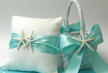 Beach Wedding - Ring pillow & flower girl basket / Megan's wedding - starfish-themed ring bearer pillow and flower girl basket