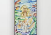 Monique Rebelle Art / My mother oil paintings