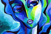 Abstrakte ansigter