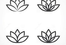 Black Lotus Flower for Tattoo
