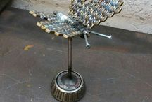 Metall Skulptur