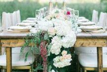 Bloemenloper dinertafel wedding