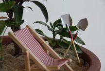 Miniaturgarten (gardening in miniature) / der Garten in Topfgröße  (made by Andrea Übinger)