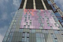Next phase at Berkeley Homes, Saffron Square - Croydon. / Installing our Cradle & Batten System over 43 floors.