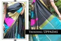 Uppada Silk / Uppada sarees are more in vogue today. The weave is super rich with real zari and pure silk. Wear one, spell magic! Check out for more, inbox us. #Uppada #trend #magic #zari #puresilk #wedding #saree