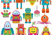 Clipart Monsters & robots / Clipart of Monsters and robots