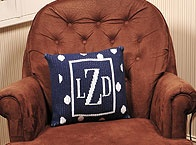 Blankees | Pillows / Customized and monogramed pillows in a variety of colors and styles.