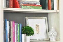 Bookshelves / Home decorating, bookshelves, and bookshelf styling--especially built-in bookshelves.