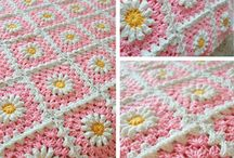 GRANNY SQUARES PROJECTS / CUSHIONS, BLANKETS ETC