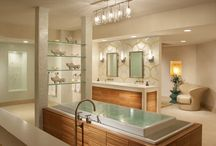 Interior Design - Bathroom / All images pinned to this board are displayed solely for instruction, research, and/or discussion and commenting. The purpose and character of this board is for nonprofit educational purposes only. / by Paula Ring