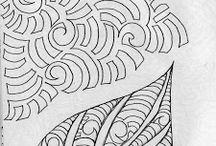 Tegninger til glassmaling osv
