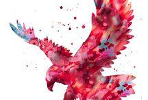 Bird art / My fave art of birds