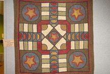 Rug hooking-geometrics