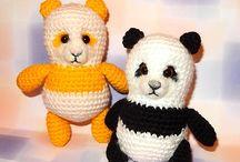 Free Panda Bear Crochet Patterns / by Sharon Ojala