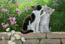 Peintre (Persis Clayton Weirs) / Chats