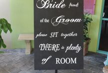 Hire Blackboards / Find a Seat - Photo Booth - Drink Station - Love Quotations - Table Numbers
