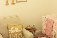 Nursery DIY / Pink and gold baby girl nursery