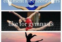 dance,cheerleading,and gymnastics