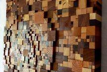 dekor potongan kayu
