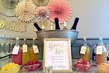 Bridal Shower: gold & pink