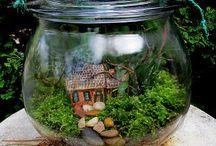Minyatür Bahçeler/Peri Bahçeleri/Terrarium/Miniature Garde/Fairy Garden