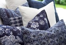 Blue and white - furnishings
