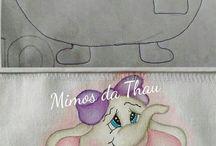 Pintura em tecido criança
