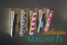 CLOTHES PIN CRAFTS / by Margie Mellon