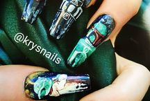 LUKE… I LOVE YOUR NAILS! / Check out some amazing Star Wars inspired nail art and what NSI products you could use to recreate the looks. These artists are using a variety of gel polish, nail polish, acrylic nail products and gels along with our own NSI products.