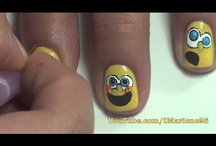spongebob nails tutorial by nded / spongebob nails tutorial by nded