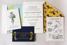 destination designs / wedding invites inspired by destinations