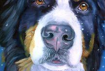 Bernese Mountain Dog Art / My Art of the BMD by Lyn Hamer Cook© www.PetArt.net