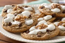 Rocky road cookies / Chocolate chip cookie dough cookies.