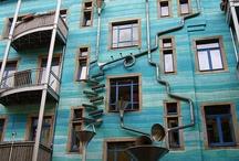 Interesting buildings, doors and windows
