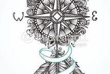 Iránytű Tattoo