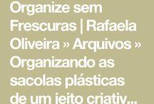 Organização / Organizar sacolas plástica