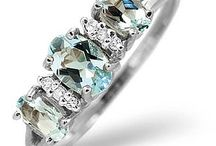 """Aquamarine Jewellery - March Birthstone / The name """"aquamarine"""" comes from the Latin for """"ocean"""" and """"water"""", referring to its blue colour. It's the gem for the star sign of Pisces.Today it remains an ever popular accessory because of its beautiful, glimmering blue colour."""