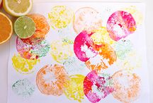 Fruit and Veggie Printing