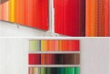 Rangement crayons couleurs