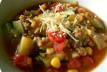easy soups / by Bettie Felder